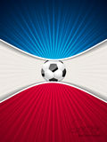 Abstract blue red soccer brochure Stock Images