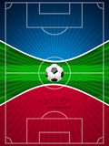 Abstract blue red soccer brochure Stock Photo