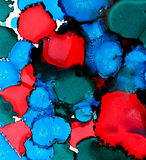 Abstract blue and red stains merging Royalty Free Stock Photo