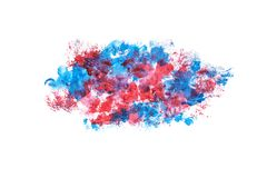 Abstract blue and red watercolor painted background Royalty Free Stock Photography