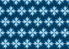 Abstract Blue Rhomboid Pattern on Dark Blue Background Stock Photography