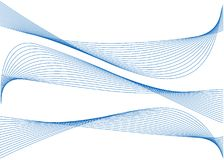 Abstract blue ribbons. On white background Stock Illustration
