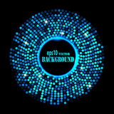 Abstract blue ring background Royalty Free Stock Photography