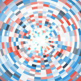 Abstract blue round mosaic background. Vector illustration Royalty Free Stock Photo
