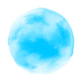 Abstract blue round watercolor Stock Images