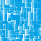 Abstract blue rounded square background. Vector illustration file EPS10 design. Endless texture can be used for printing onto fabric and paper or scrap Royalty Free Stock Photography