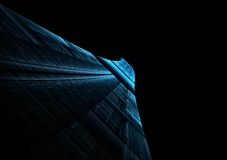 Abstract blue runway stretching Royalty Free Stock Images