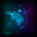 Abstract blue science background. Vector illustration Royalty Free Stock Image