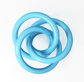 Abstract blue scroll Stock Photography