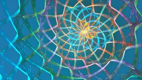 Fractal loop background with abstract shapes. High detailed loop stock video footage