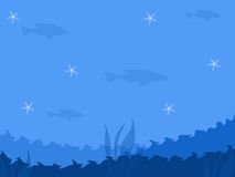 Abstract Blue Sea Background royalty free illustration