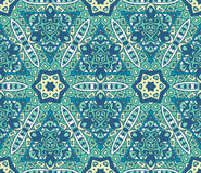 Abstract blue seamless ornamental mosaic tiles Stock Photography