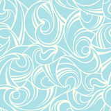 Abstract blue seamless pattern. Vector illustration. Royalty Free Stock Image