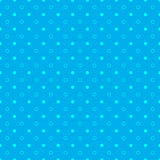 Abstract blue seamless pattern with white circles, waves and dot Royalty Free Stock Image