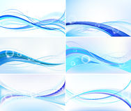 Abstract  blue set Royalty Free Stock Image