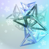 Abstract blue shape composition with snow Stock Photography