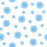 Abstract Blue Shapes Seamless Texture. Blue abstract shapes on white background. Seamless texture. Textile Stock Photos