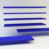 Abstract blue shelve Stock Photo
