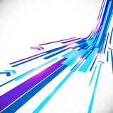 Abstract blue shining lines vector background Stock Image