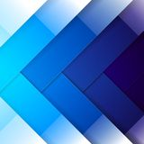 Abstract blue shining rectangle shapes background Royalty Free Stock Photo
