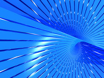 Abstract blue shiny line pattern background Stock Photo
