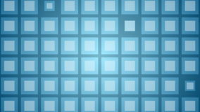 Abstract blue shiny squares video animation stock footage