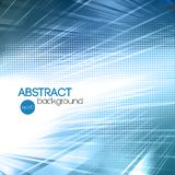 Abstract blue shiny template background Royalty Free Stock Image