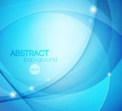 Abstract blue shiny vector template background Royalty Free Stock Photography