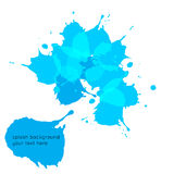 Abstract blue shplash background Royalty Free Stock Photography