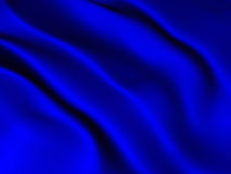 Abstract blue silk background Royalty Free Stock Photography