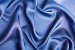 Abstract blue silk background Stock Photo