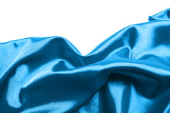 Abstract blue silk background Stock Image