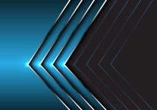 Abstract blue silver arrow direction on dark gray design modern futuristic background vector. Illustration vector illustration