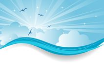 Abstract blue sky Royalty Free Stock Photography