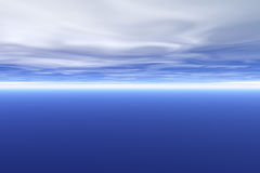 Abstract blue sky with clouds Stock Photography