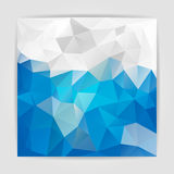 Abstract Blue Sky Natural Triangular Polygonal background Royalty Free Stock Photos