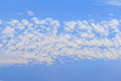 Abstract blue sky with white cloud background Royalty Free Stock Images