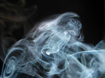 Abstract blue smoke Royalty Free Stock Photos