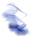 Abstract blue smoke. Rendered fractal abstract blue smoke isolated over white Royalty Free Stock Images