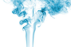 Abstract blue smoke. Abstract smoke on white background stock image