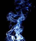 Abstract Blue Smoke On Black Background. Royalty Free Stock Photography