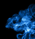 Abstract blue smoke Stock Images