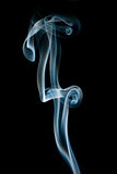 Abstract blue smoke on black Royalty Free Stock Images