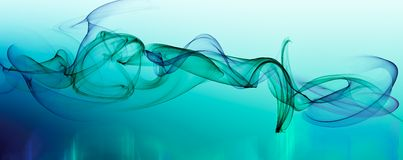 Abstract blue smoke effect Stock Image