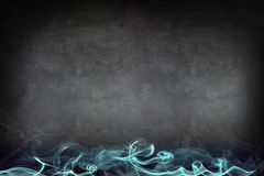 Abstract blue smoke on the gray wall Stock Image
