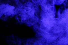 Abstract blue smoke hookah. Royalty Free Stock Image
