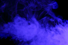 Abstract blue smoke hookah. Royalty Free Stock Photography