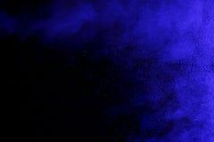 Abstract blue smoke hookah and water drops. Stock Photo