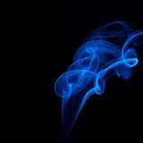 Abstract blue smoke Stock Photo