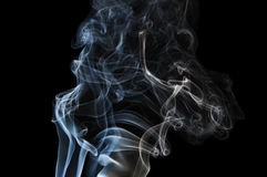Abstract Blue Smoke Stock Photography
